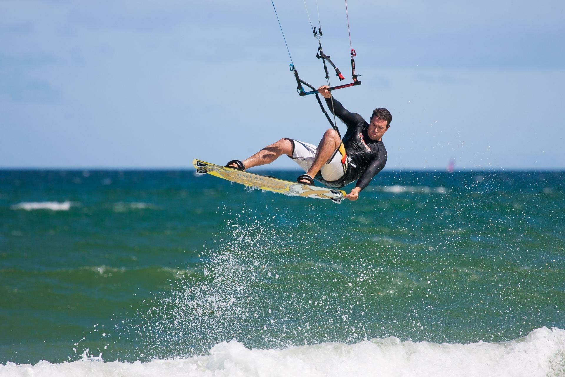 Kiter im Sprung