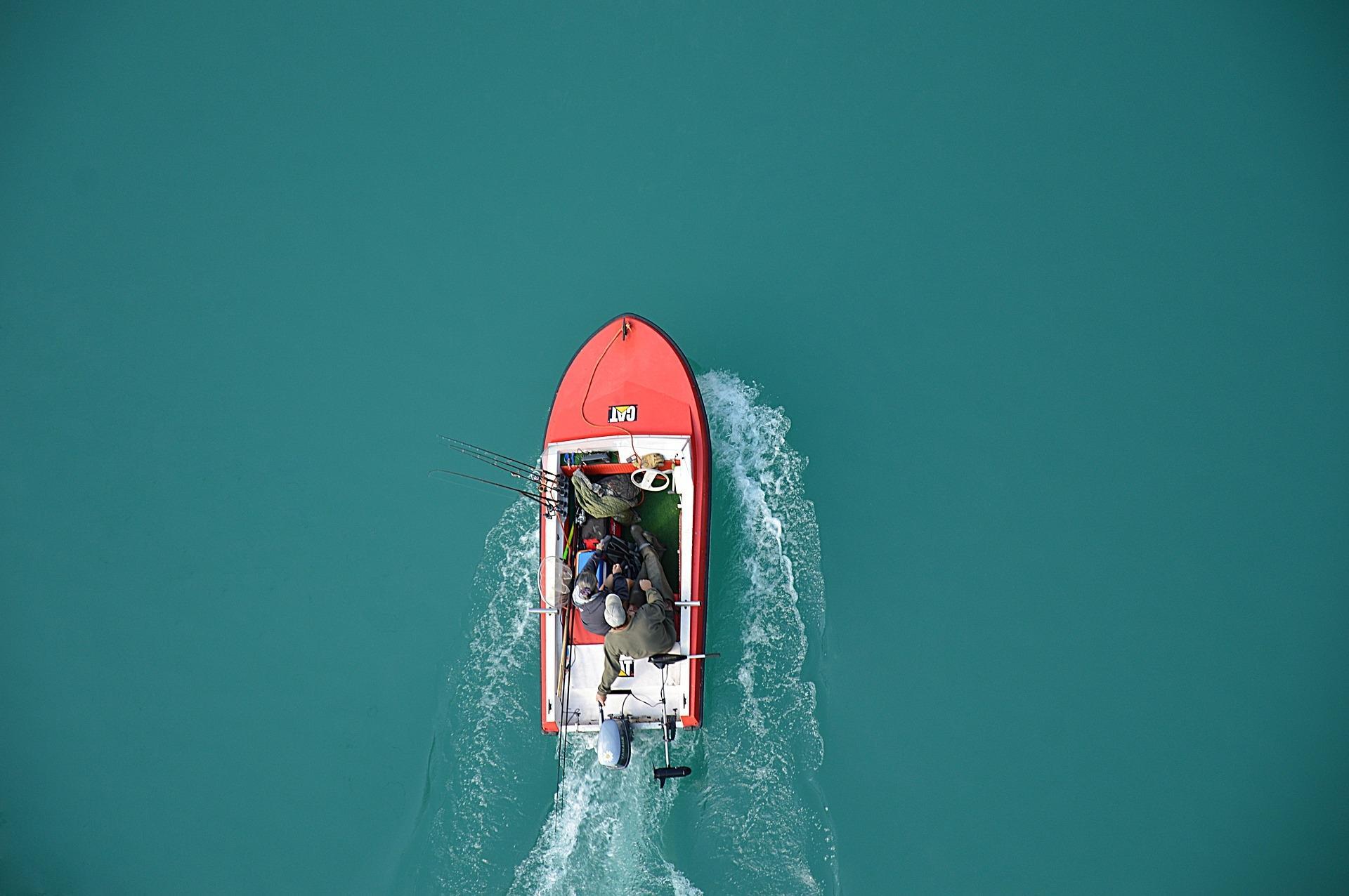 Angelboot von oben