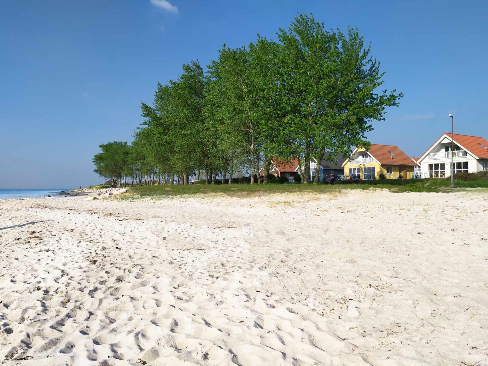 Der Strand in Wackerballig vor dem Ferienhaus Wackerama